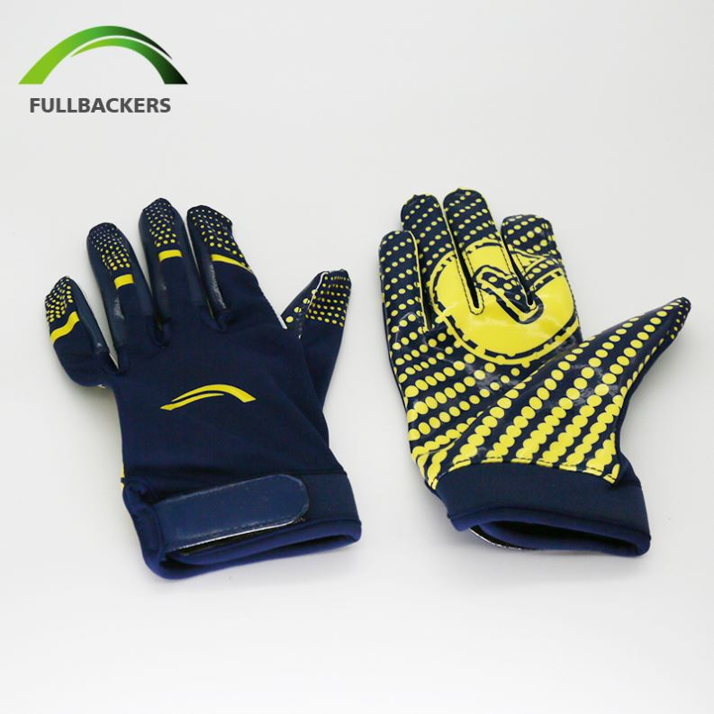 ... preview of cdc71 bb930 Low-cost Design Fullbackers Football Gloves  Steelers - Buy Football Gloves ... 6fd7a7330