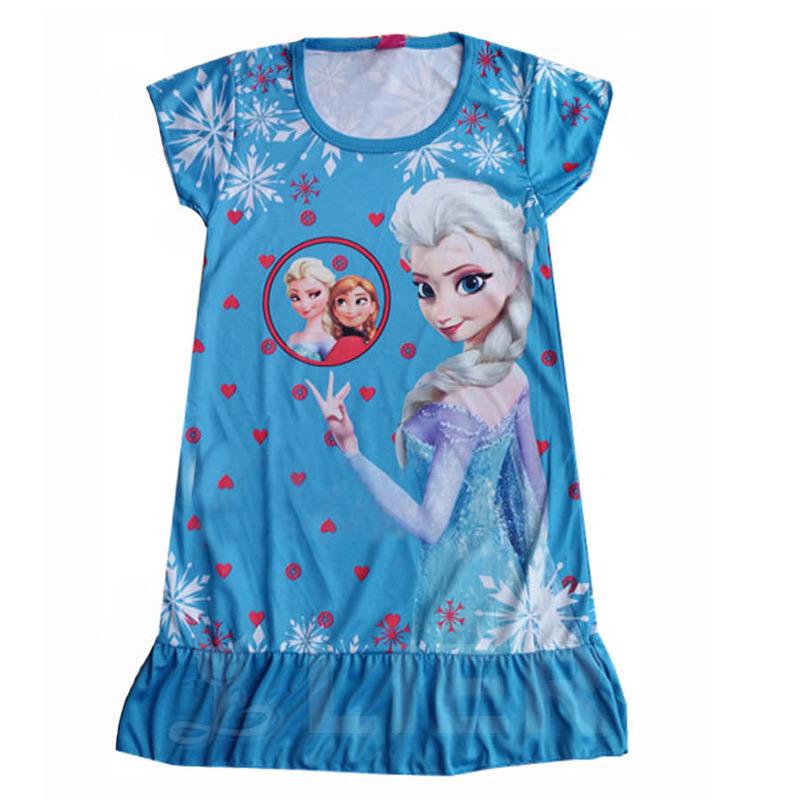 0d9b3fe17488 Buy Princess Anna Elsa Girls Nightgowns Summer Children Character ...
