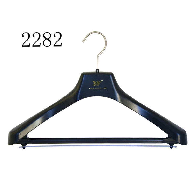 Luxury Black Plastic Womens Suit Hanger With Bar For Pants