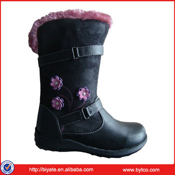 High quality winter kids fur boots