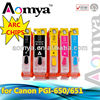 New !! PGI-650 CLI-651 refillable ink cartridge for Canon PIXMA MG5460/ IP7260/ MX726/ MX926 with ARC chip