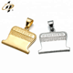 Promotional gift custom zinc alloy gold silver metal comb pendants