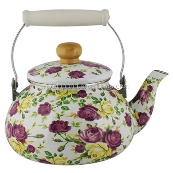 Flower Painting Ceramic Teapot Kettle For Decoration