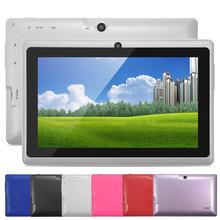 5 Colors 8GB Q88 7 inch Tablet PC Allwinner A33 Quad-Core 512MB/8GB 1024 x 600 Dual Camera WIFI 2800mAh tablet