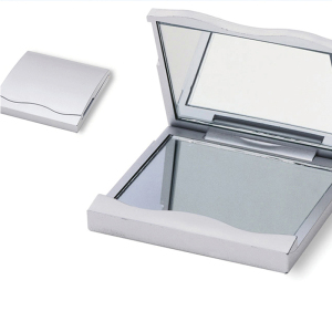 New Morden wholesale promotional giveaway elegant compact doouble mirror with one magnifying side
