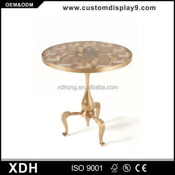 High End Metal Gold Coffee Table Glass Top Tea Table Buy Glass