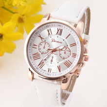 NEW Geneva Platinum Watch Women PU Leather wristwatch casual dress watch reloj ladies relogio gift Analog Quartz Fashion Roman