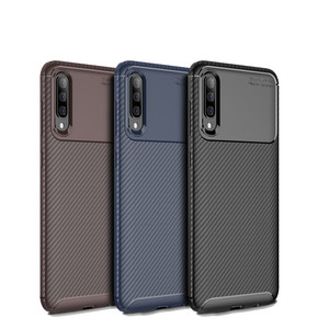 Laudtec New Carbon Fiber Soft Tpu Back Cover Phone Case For Samsung Galaxy A50
