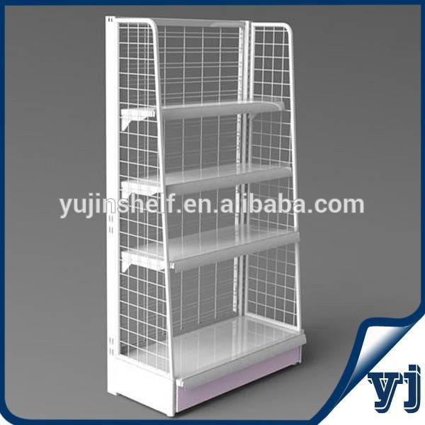 Black Retail Wire Mesh Display Stand Shelf / Light Duty ...