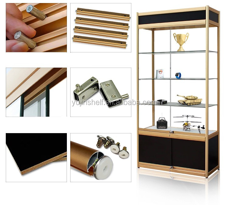 Shop Used Lockable Glass Doors Ornaments Glass Display Cabinet With