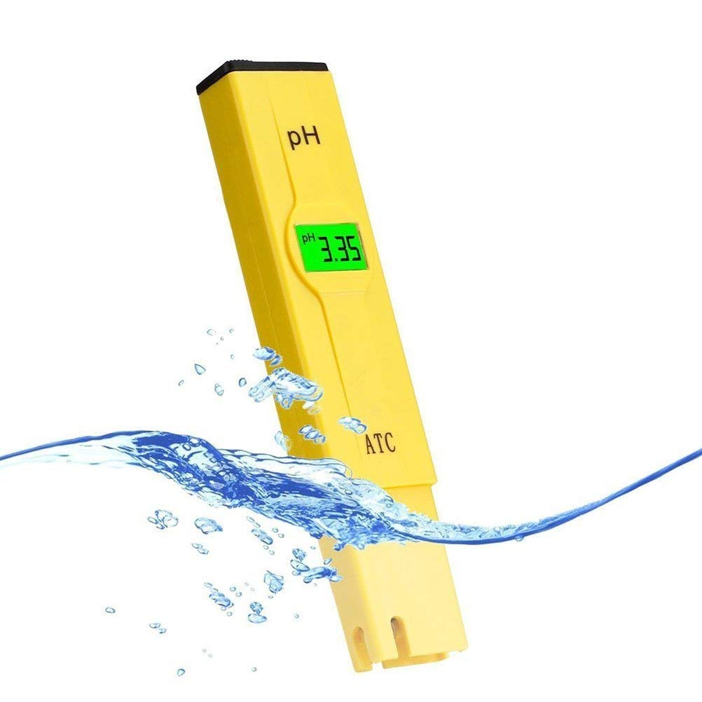 VantaKool Digital PH Meter, 0.01 PH High Accuracy Pocket Size PH Meter/PH Tester with 0-14.0 Measuring Range, Water Quality Tester for Household Drinking Water, Swimming Pools, Aquariums