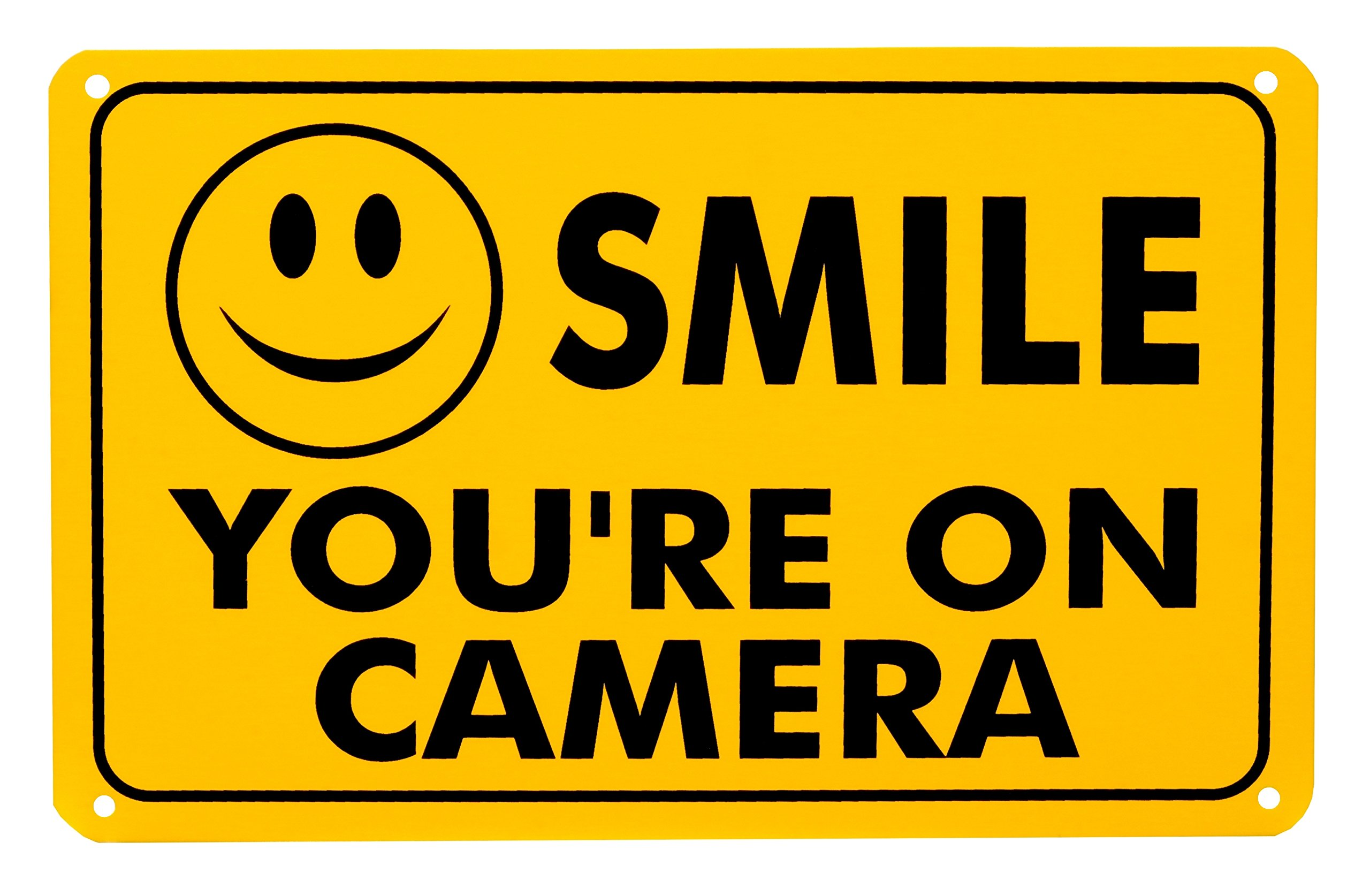 image relating to Smile You Re on Camera Sign Printable named Acquire Smile Youre Upon Digicam Rust Absolutely free Outside Water-proof Fade