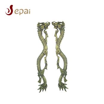 Chinese Dragon Design Handle Good Meaning Decoration Brass Gold Door Handle  - Buy Brass Door Handle,Gold Door Handle,Door Handle Product on