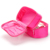 Double Layer Cosmetic Bag Red Travel Toiletry Cosmetic Makeup Bag Organizer