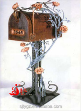 Cast iron free standing mailbox,metal letter box for outdoor