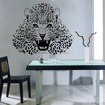 4153 ferocious leopard panther wall decals vinyl decals leopard