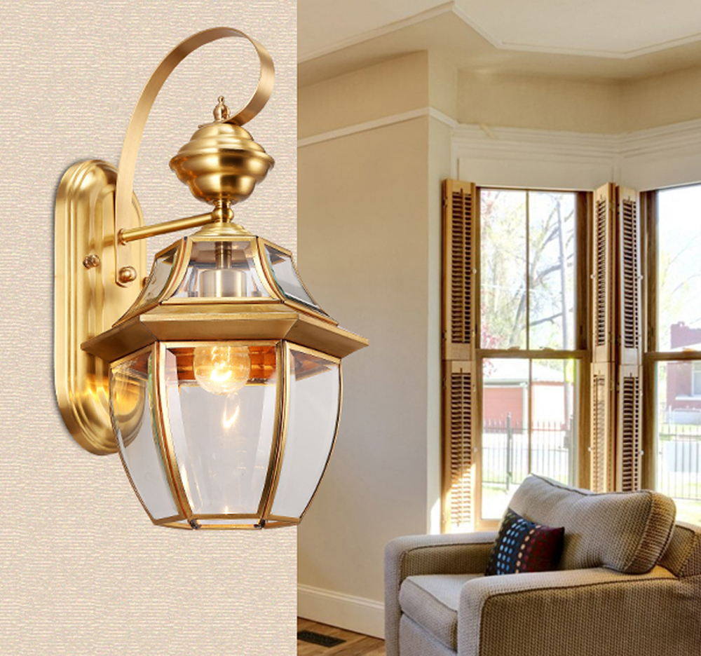 Antique-bronze-wall-sconce-gold-color-hotel-wall-lamps