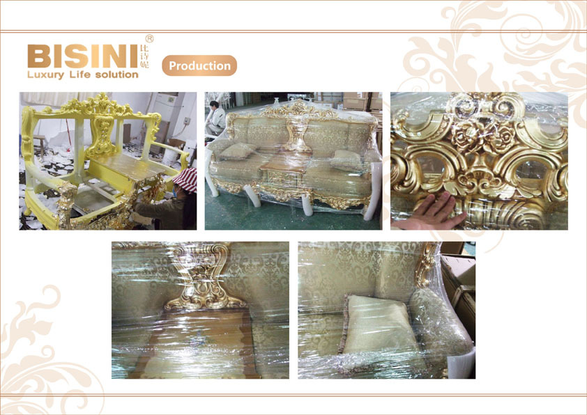 Juego de sofás de sala de estar de Color brillante barroco francés de lujo/sofá de tela tallada a mano de palacio real/muebles de sala de estar europea
