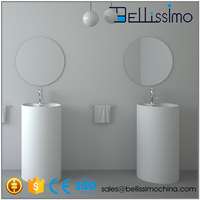 Free Standing Basins, Pedestat Stone Sink, Double Sink Bathroom BS-8505