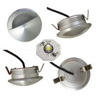Driverless AC LED Seoul round frame outdoor garden wall lamp recessed 3W