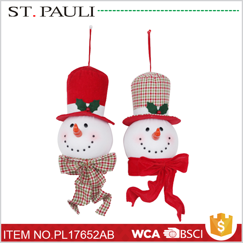 snowman head hanging ornaments novelty 2017 christmas for bulk buying