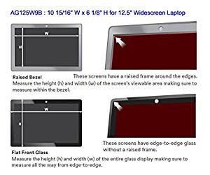 """3M AG125W9B Anti-Glare Filter for 12.5"""" Widescreen Laptop - Clear, 16:9, 10 15/16"""" W x 6 1/8"""" H"""