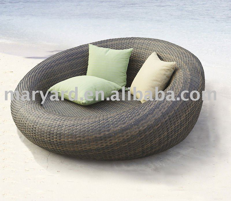 Rattan Daybed Suppliers : Wholesale outdoor daybed cushions round