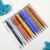 metal cross ball pen with stylus, colored slim metal pen