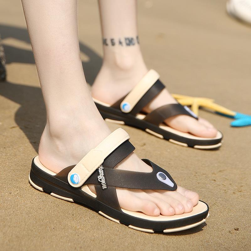 07bd37227c571 2017 Famous Brand Designer Plaid Stripes Men Sport Sandals Slippers Summer  comfort Men Outdoor male Beach Shoes Flip flops - us20