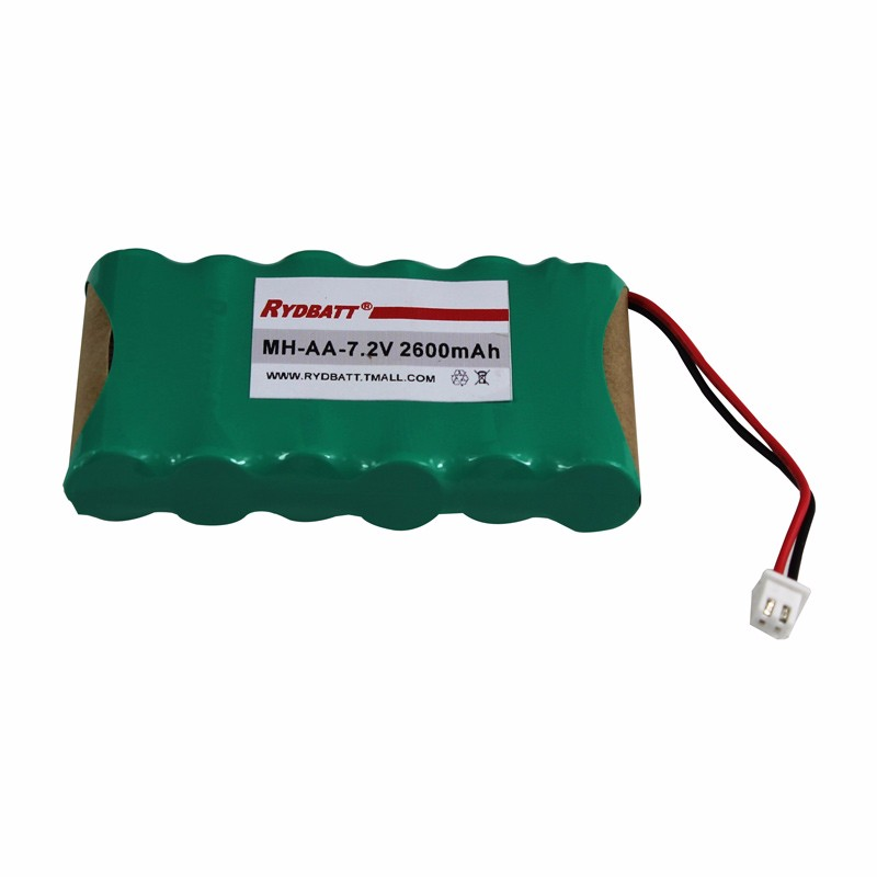 NiMH-7.2V-2600mAh-6S1P rechargeable battery pack for vacuum cleaner and alarm equipment /top