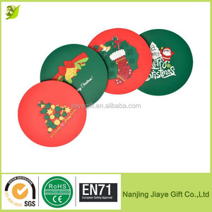 High Quality PVC Silicone Coasters Coffee Cup Mat for Christmas Gift