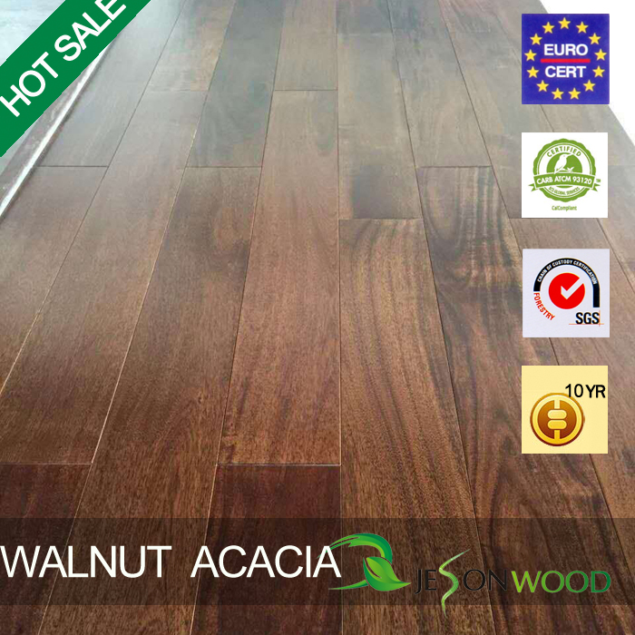 Popular Anti-scratched Stained Small Leaf Acacia Ulin Wood Flooring