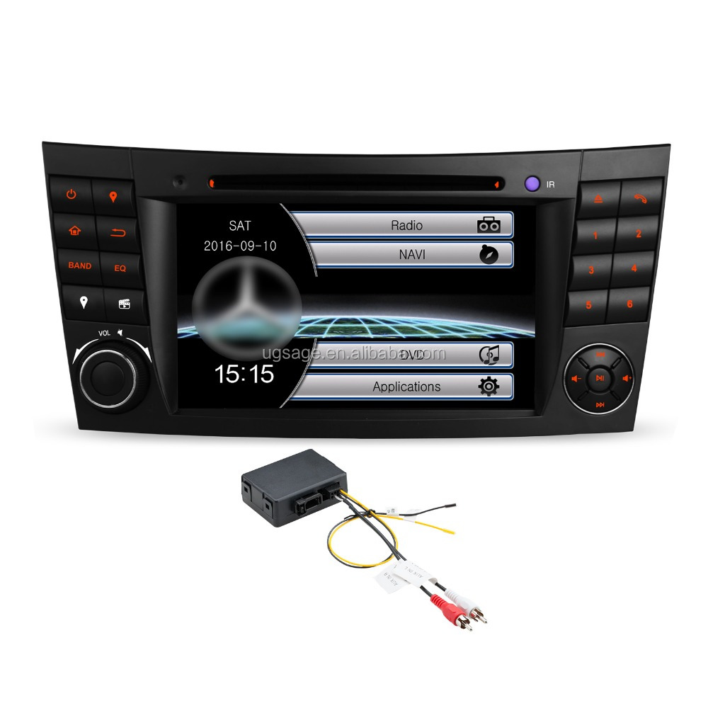 Xtrons Portable Mobil Dvd GPS Video MP4 Player untuk Mercedes E Kelas W211/CLS Kelas W219 dengan Optical serat Decoder