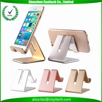 Metallic portable bed/desk side use personalized business gift items for iphone ipad mount