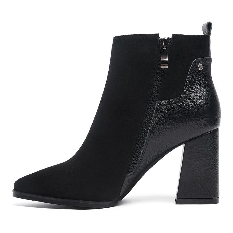 Shoes Women Boots Leather Ladies Handmade Boots Plus G323 Size Dress 2017 qZa8Fw