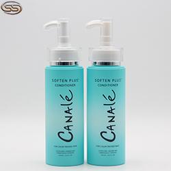 Cosmetic Shower Gel PET Plastic Shampoo Square Unique Shape Bottle