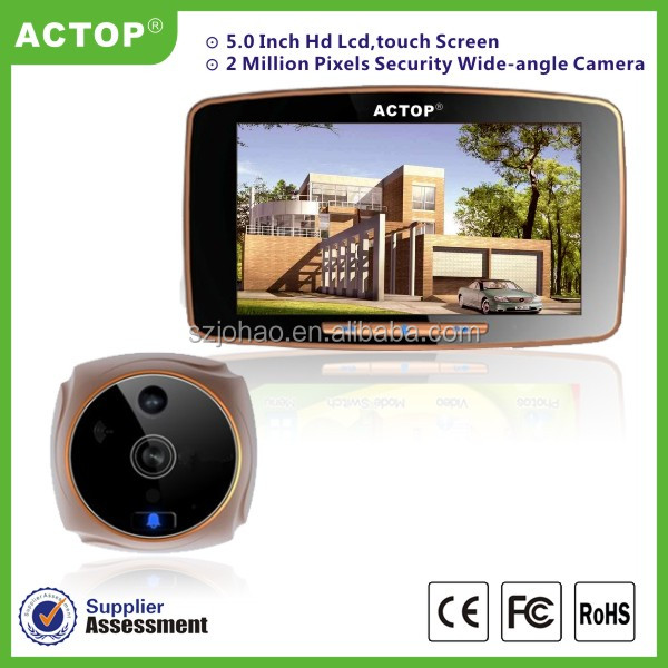 factory supply digital door peephole viewer motion detection touch memory record best video exitec digital door viewer