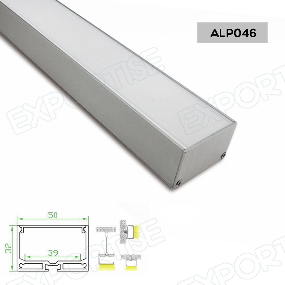 Aluminum Led Profile for led strip/aluminum alloy profile tube ALP046