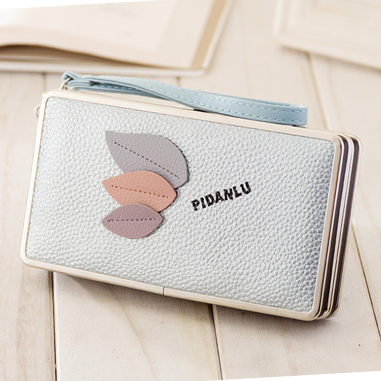 Hot Selling Long Style Women Purse Clutch Wallet Credit Card PU leather Ladies Card purse with coin slot