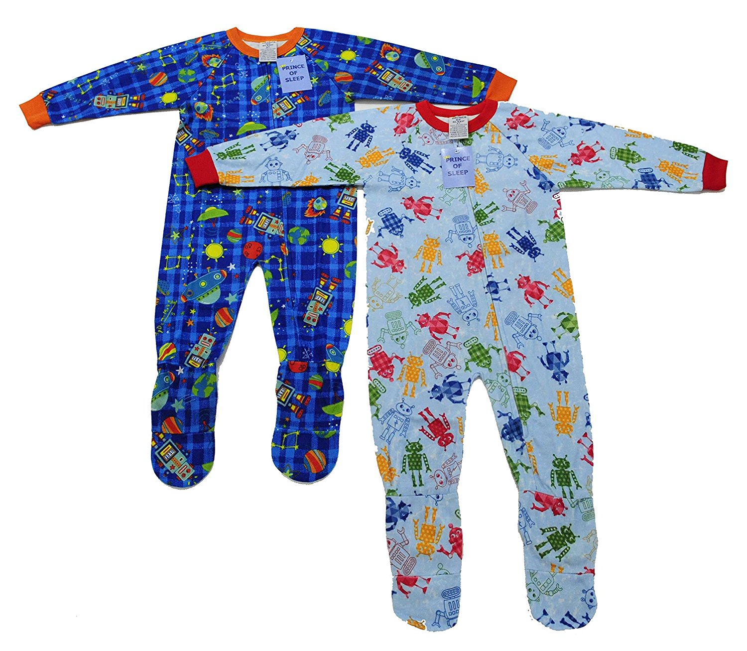 d528f5d941 Get Quotations · Prince of Sleep Footed Pajamas Blanket Sleepers (Pack Of 2)