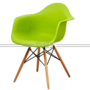Famous Design Dining Room Chair Plastic Chair With Wood Legs