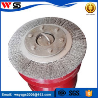large size round copper wire brush for cleaning