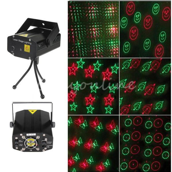 New XL-072 Mini Voice Automatic Control R&G Laser Light Lighting Projector Stage DJ Disco Xmas Party Show Star Club Bar + Tripod