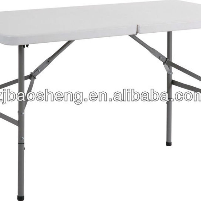 4ft Folding In Half Table Plastic Foldable Table