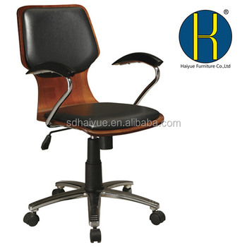 HY3207 Factory Bentwood Office Chairs Ergonomic Cashier Chair Adjustable  Swivel Cashier Drafting Chair Popular In The