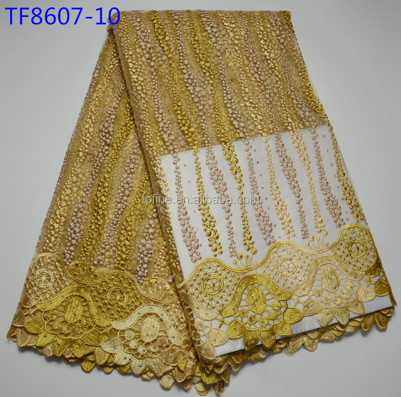 China manufacturer korean lace fabrics high quality african tulle lace fabric