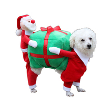 2017 Newest Pet Christmas costume M L XL Size Pet Dog Back-Carry Gift Costume Clothes Amazon Hot Style Pet Christmas costume