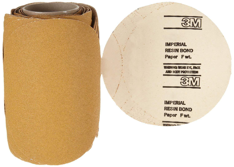 "3M Stikit Paper Disc Roll 363I, PSA Attachment, Aluminum Oxide, 8"" Diameter, 60 Grit (Roll of 50)"