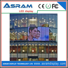 good price See-through/ transparent LED Media facade/wall/billboard/display and glass windows led display