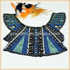 2014 fashion beaded embroidery neck trim Embroidery fabric with stub beads and diamond for girls dress